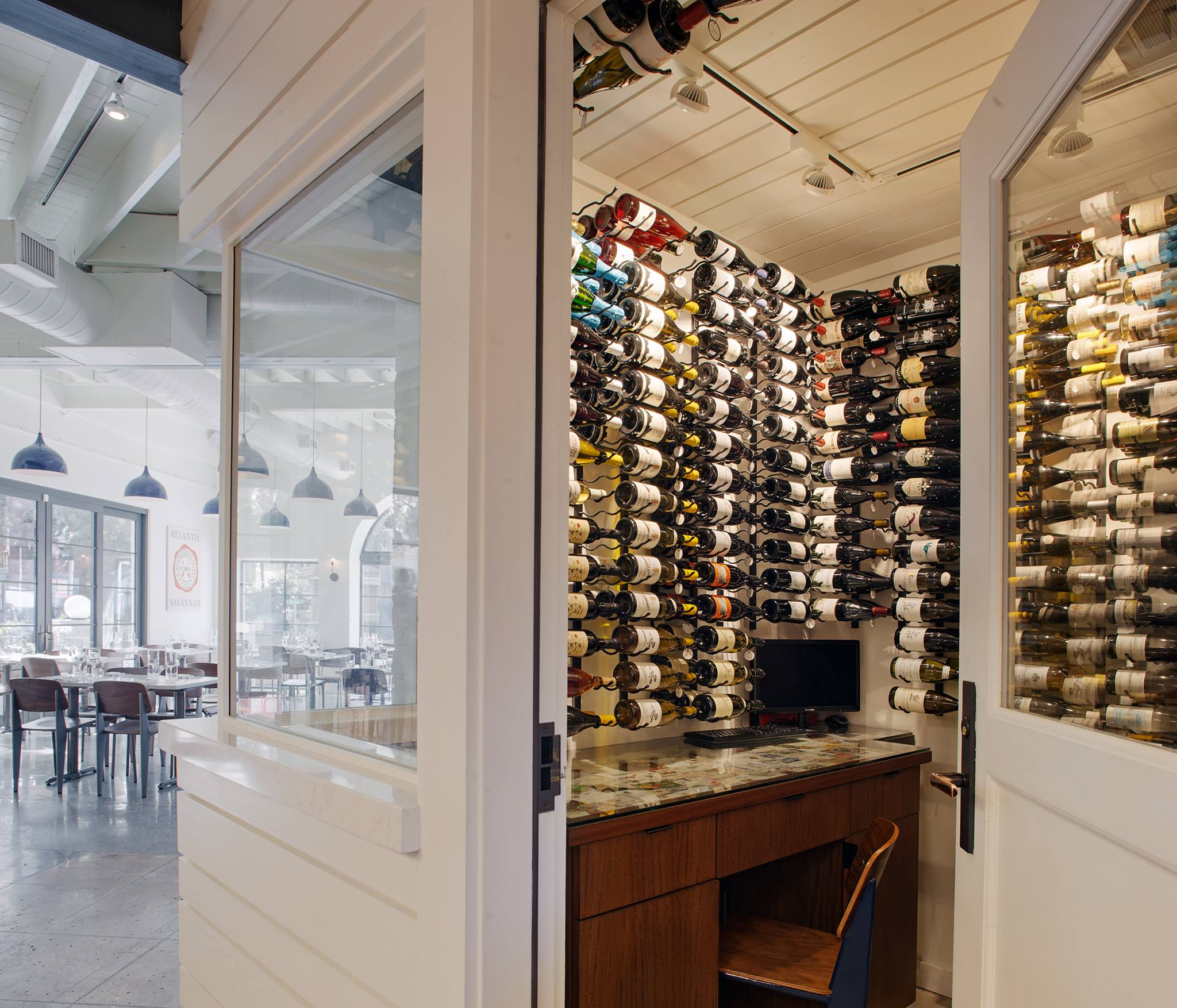 Atlantic's wine 'cellar' (photo courtesy Atlantic)