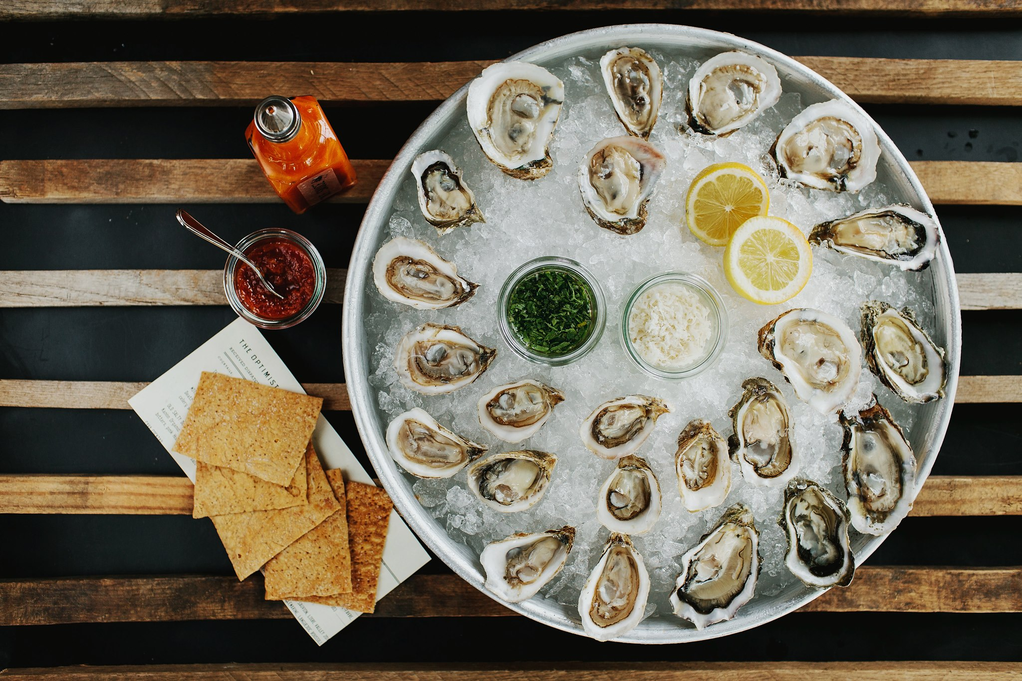 Raw Oysters -well done.  (photo courtesy The Optimist)