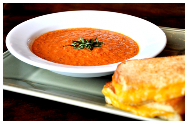 Savannah's eclectic Soho South Cafe is the home of what some people think is the BEST grilled cheese AND tomato bisque.  Smoked gouda, gruyere, and pimento aioli on sourdough bread with a bowl of tomato bisque...you can't have one without the other.  www.sohosouthcafe.com