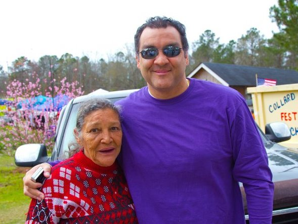 My mom, Iris and I at the Port Wentworth Collard Greens Festival