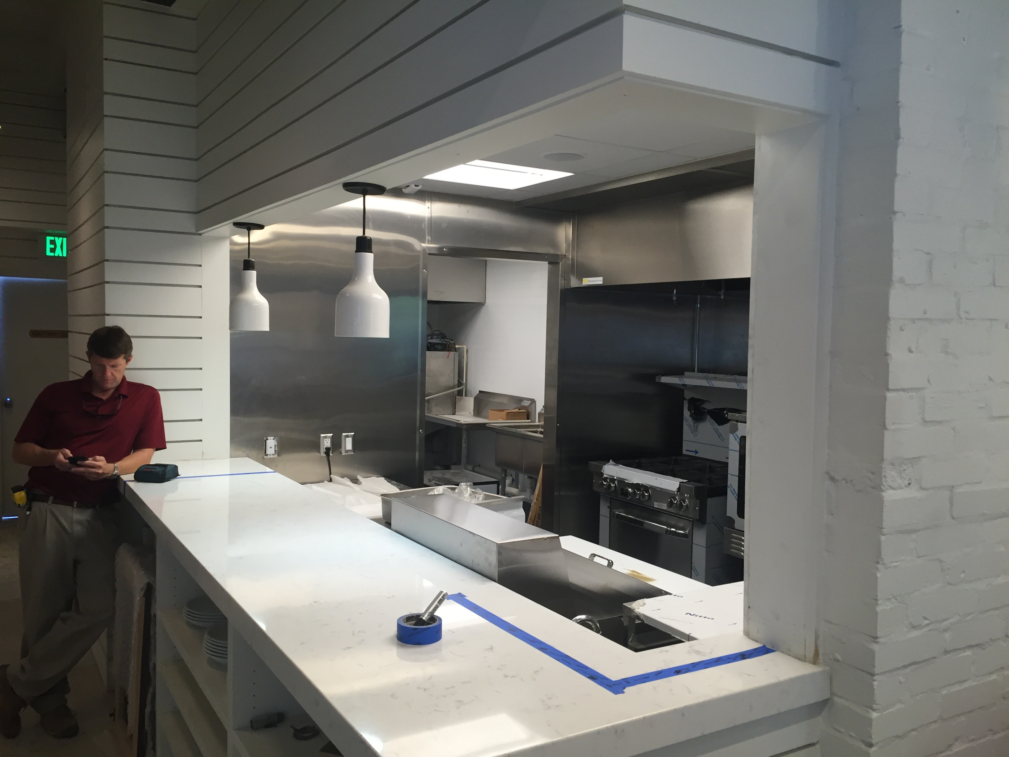 Atlantic's kitchen will be open air and easily visible to anyone