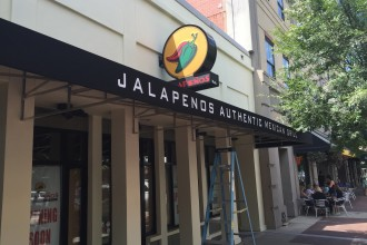 Jalepnos Store Front Sign