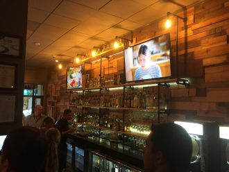 Jalapenos on Broughton features TVs across the restaurant including 2 above the bar