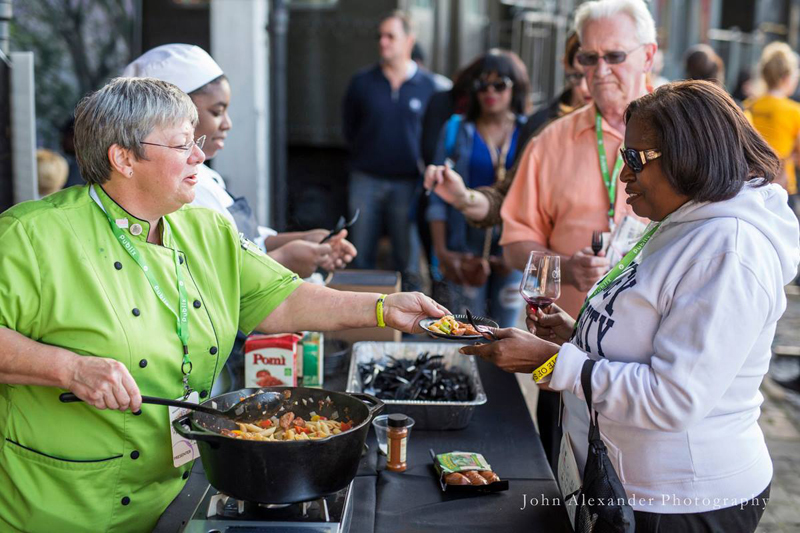 Samples for chefs all over the South at Taste of Savannah