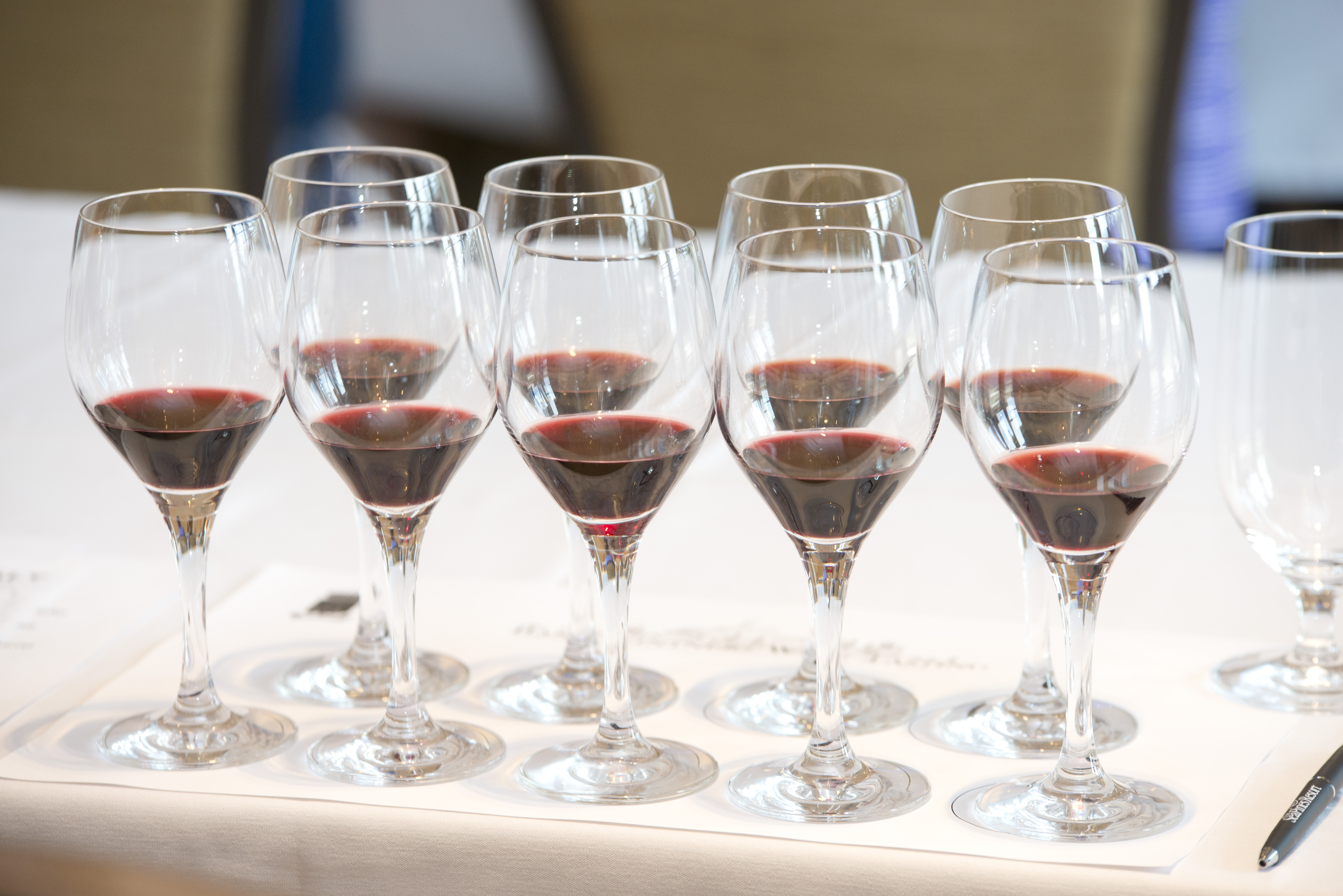 Hundreds of wines are entered. The best are awarded and available for samples